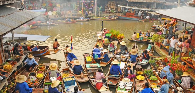Bangkok-1thailand floating market