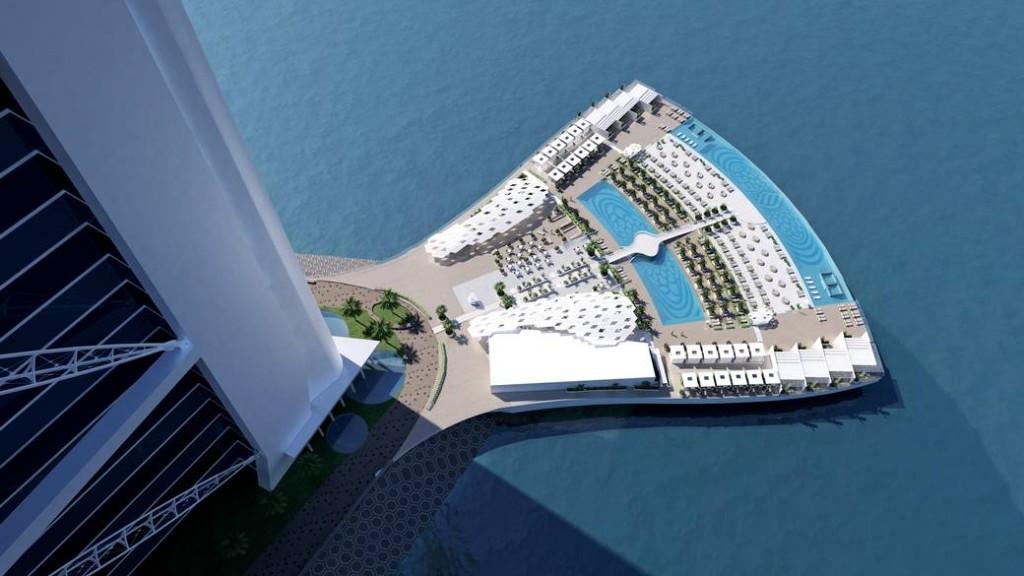 Burj Al Arab North Deck Jumeirah Ergänzt Einziges 7 Sterne Hotel