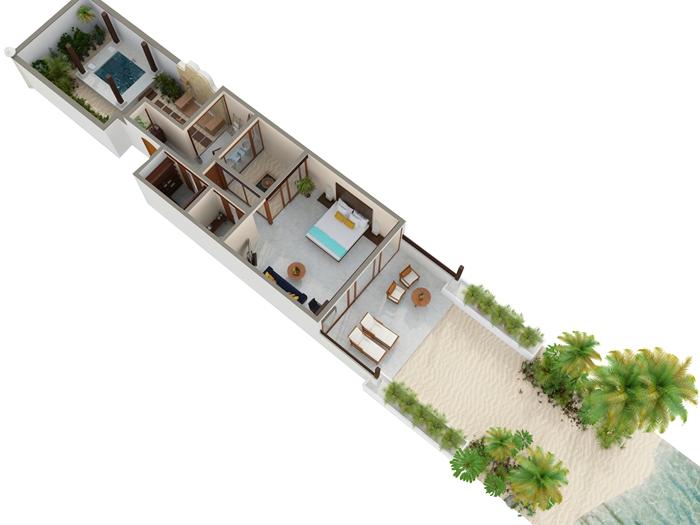 Conrad Maldives Rangali Island Resort Beach Villa