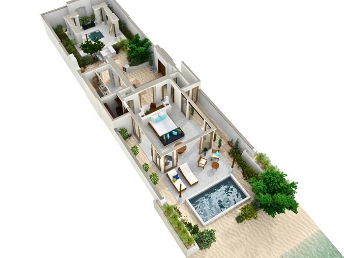 Conrad Maldives Rangali Island Resort Deluxe Beach Villa