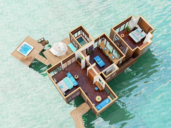 Conrad Maldives Rangali Island Resort Family Retreat Water Villa