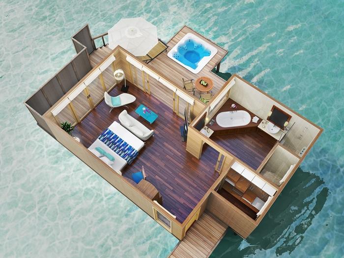 Conrad Maldives Rangali Island Resort Superior Water Villa