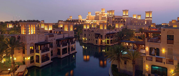 Dubai-madinat-jumeirah-dar-al-masyaf-exterior-night-hero-725x310px