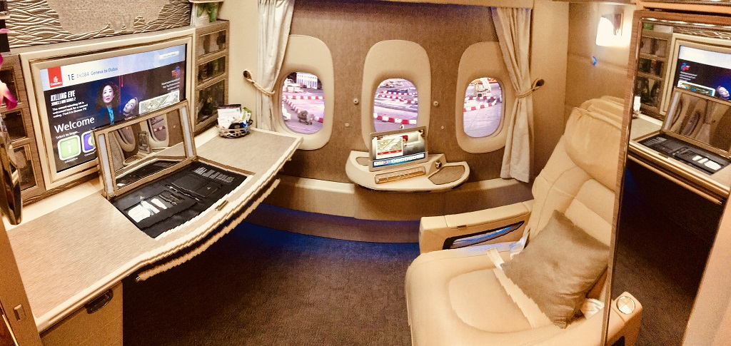 Emirates Game Changer First Class Suite in der Boeing 777-300ER