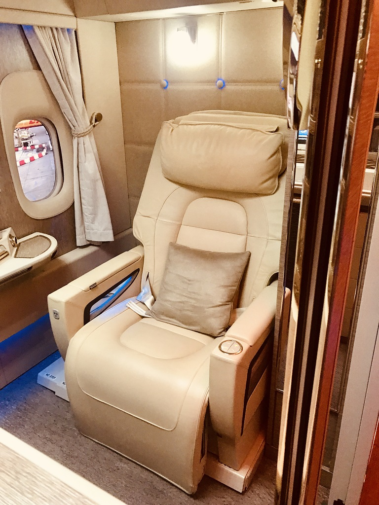 Emirates Game Changer First Class Suite Zero Gravity Seat