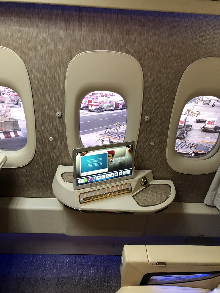 Emirates Game Changer First Class Suite Fake Windows