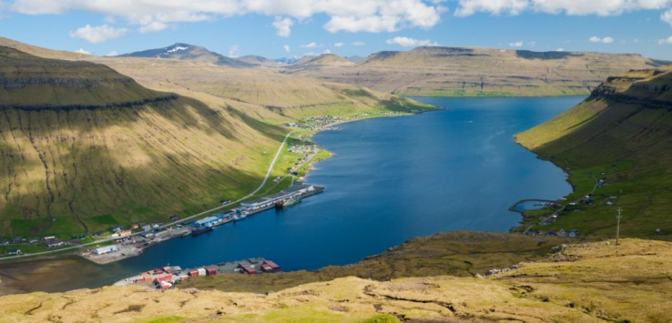 great view over the beautiful landscape of the faroe islands