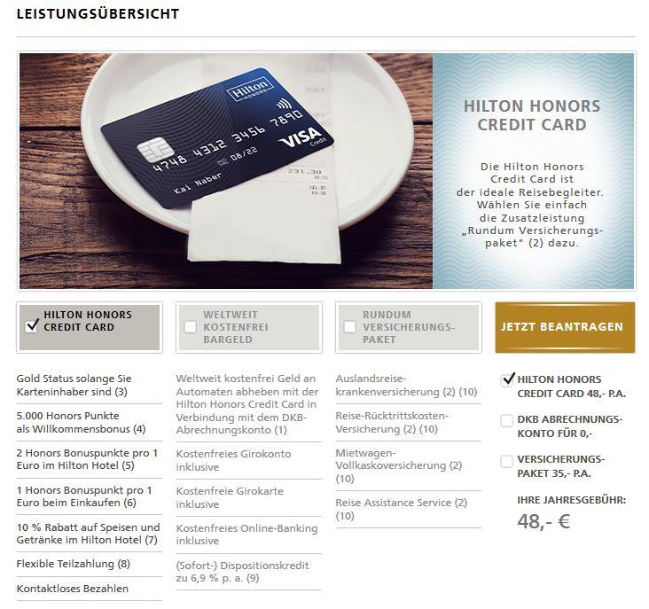 Vorteile Hilton Kreditkarte
