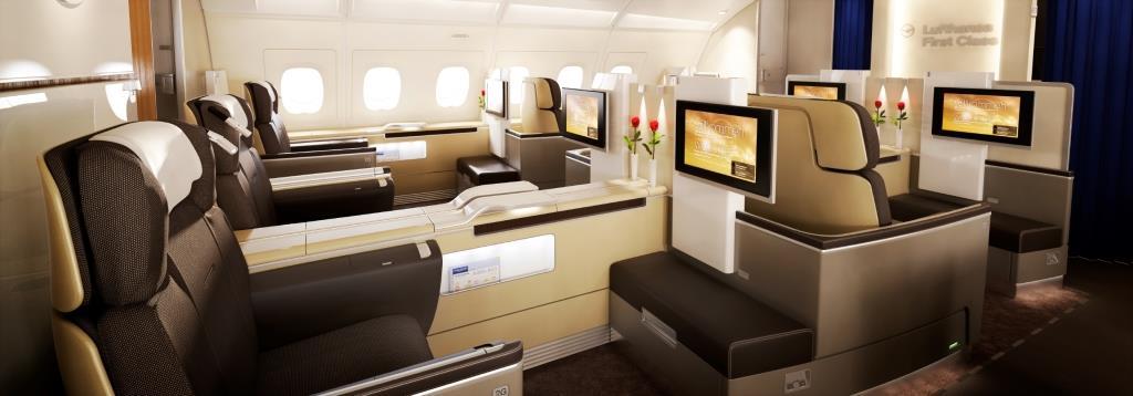 Lufthansa First Class Cabin 2010, A380 // Lufthansa First Class Kabine 2010, A380 CGI, Computer generated imagery