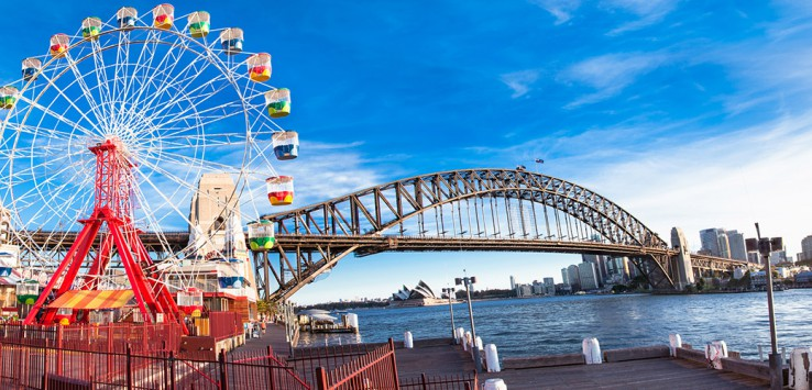 Luna-park-wheel-with-harbour-bridge-arch-in-Sydney-Australia-1170x500px-2