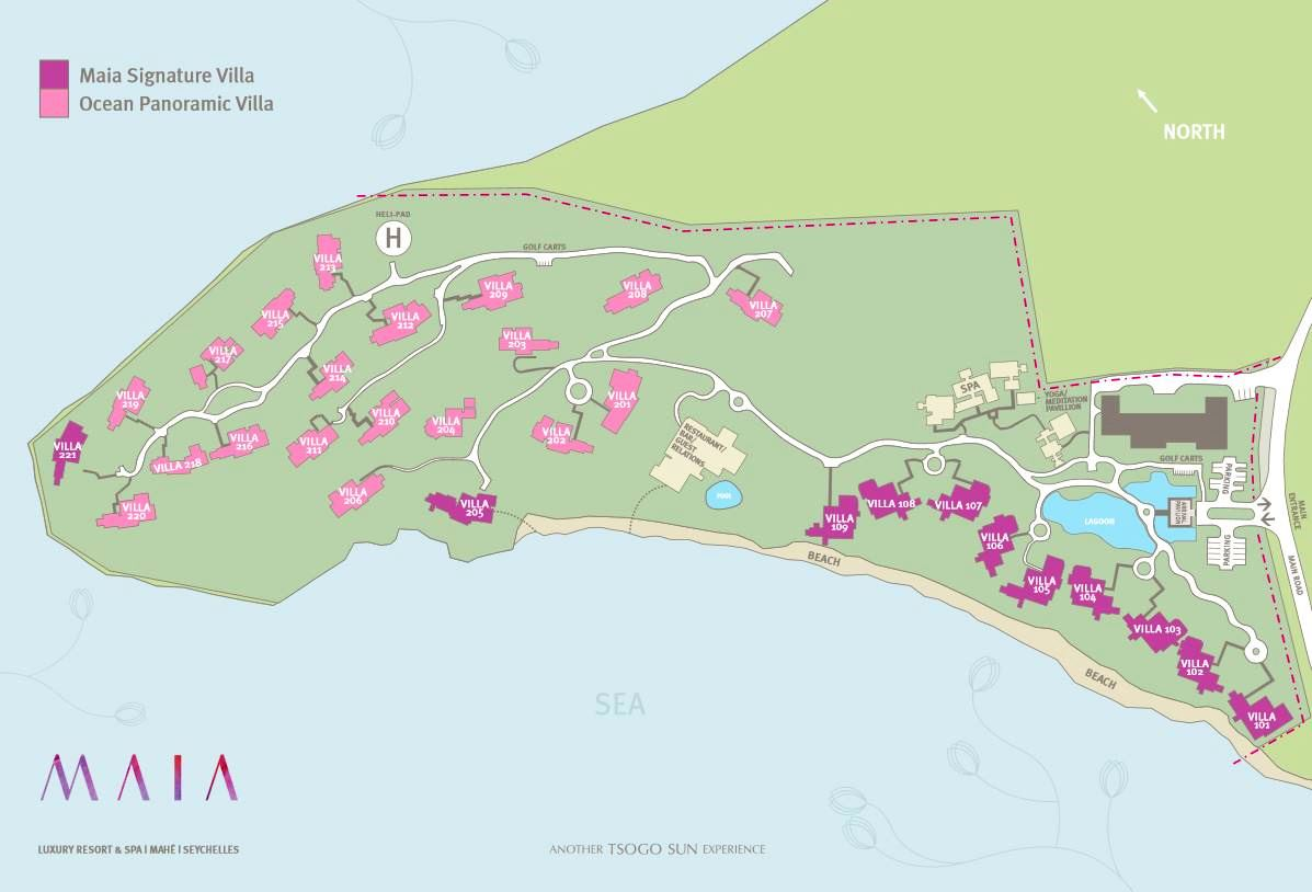 Maia Resort Map