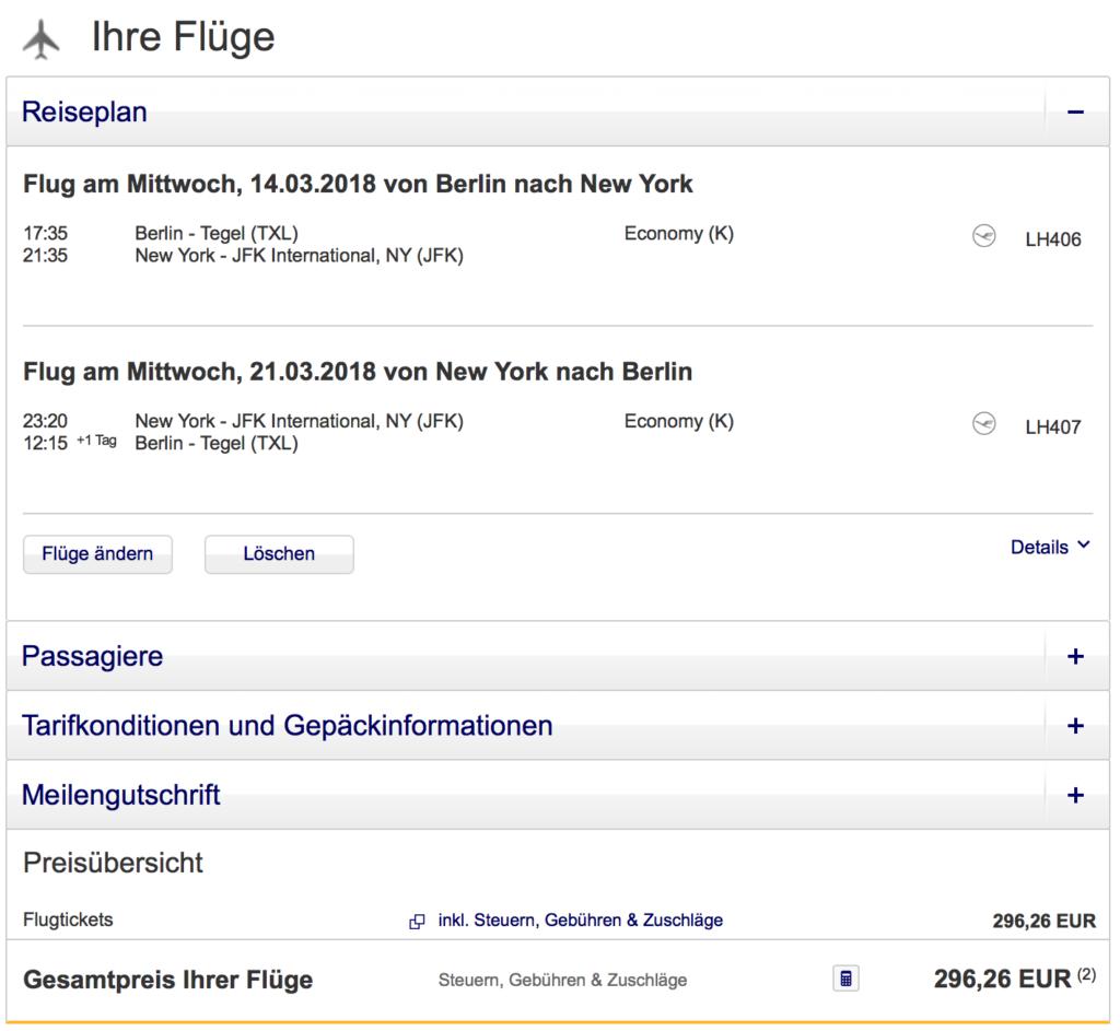 Mit Lufthansa Oder United Ab Deutschland Für 296 Euro Nach New York