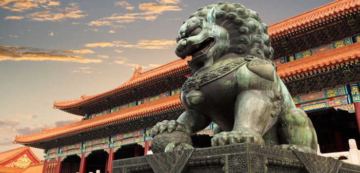 Peking-china tempel drache
