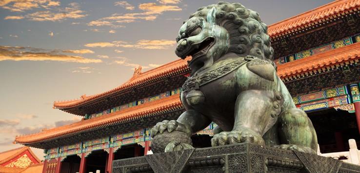 Peking-china tempel drache