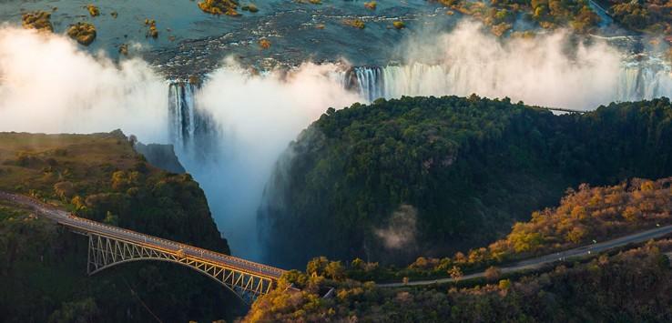 Victoria-Falls Afrika Simbabwe Sambia Natur