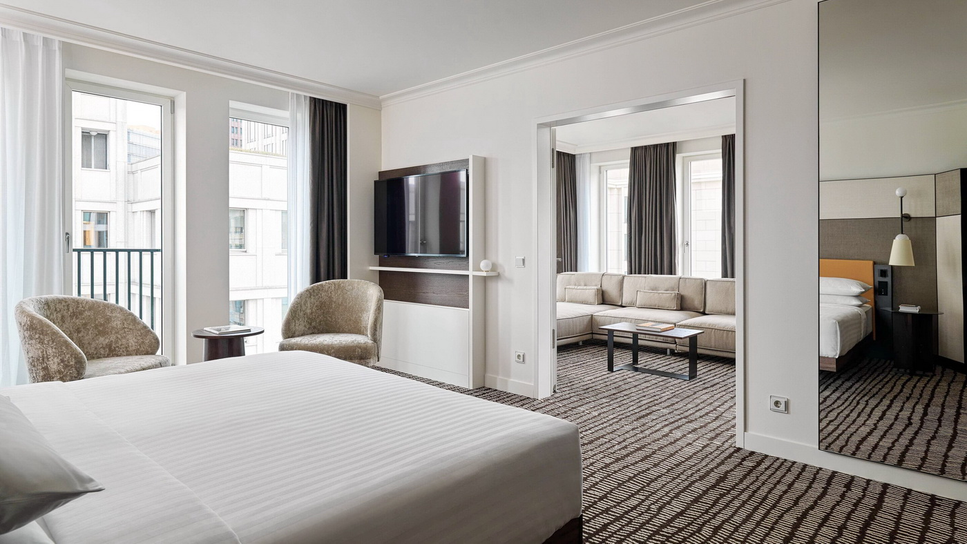 berlin marriott hotel with 378 newly designed rooms and suites in the bauhaus style