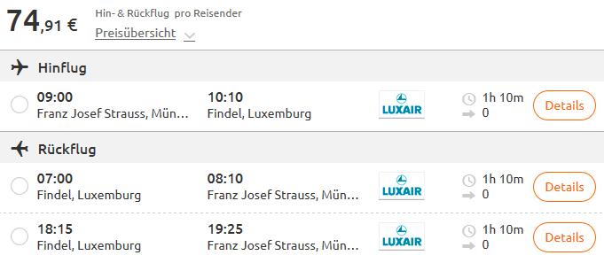 Brief Von Luxemburg Nach Deutschland : Von deutschland nach luxemburg für euro mit luxair