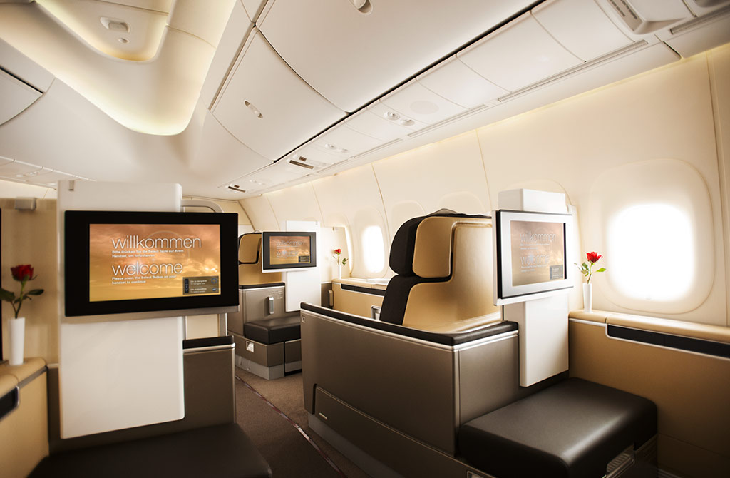 lufthansa first class buchen. Black Bedroom Furniture Sets. Home Design Ideas